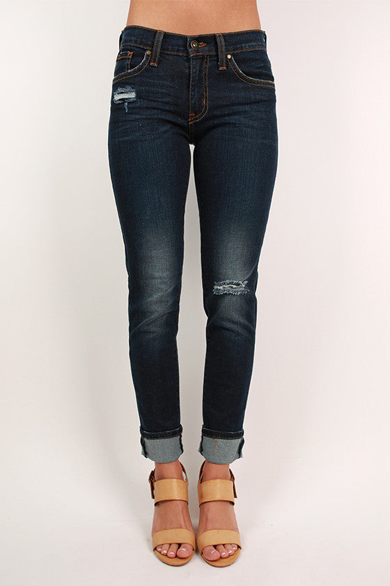 Dark Denim Distressed Skinny