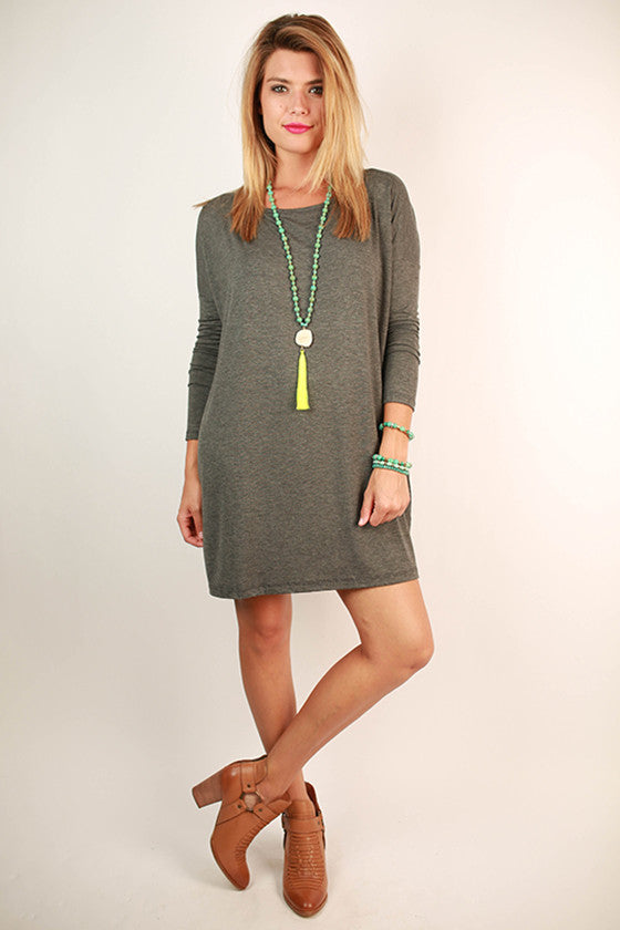 Perfect Little Tunic in Charcoal