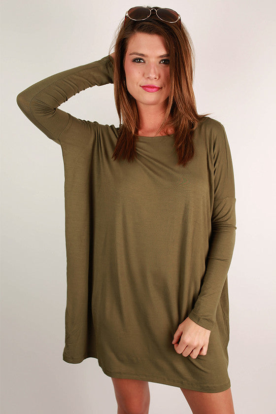 Perfect Little Tunic in Olive