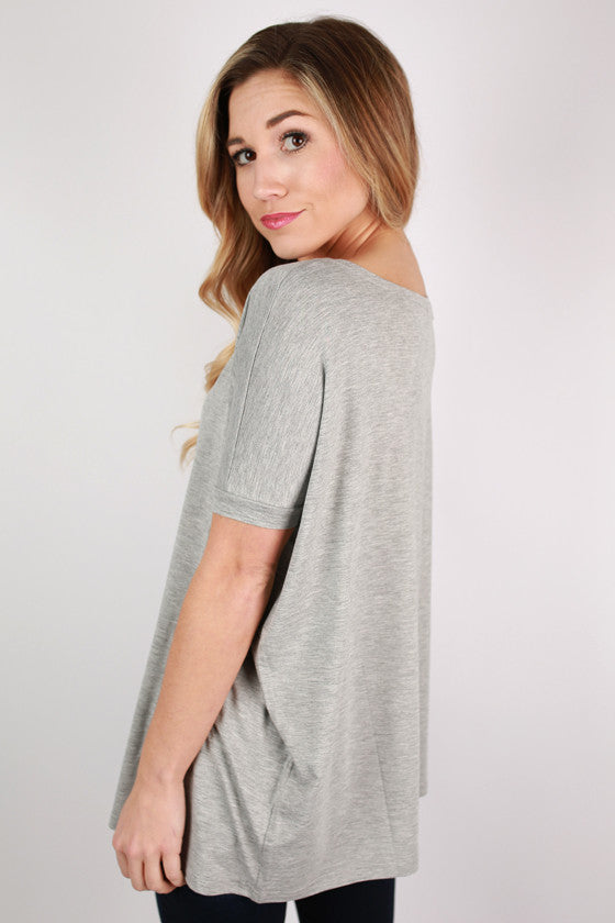 PIKO Short Sleeve Tee in Heather Grey