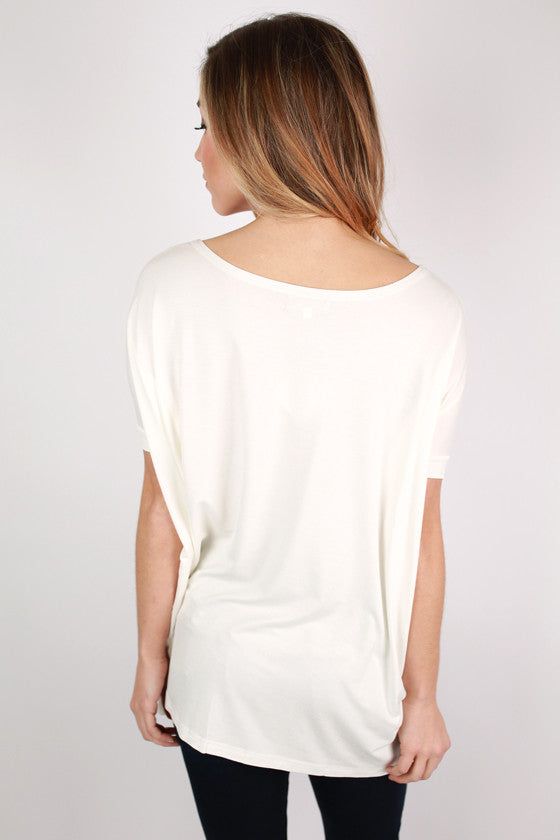 PIKO Short Sleeve Tee in Off White