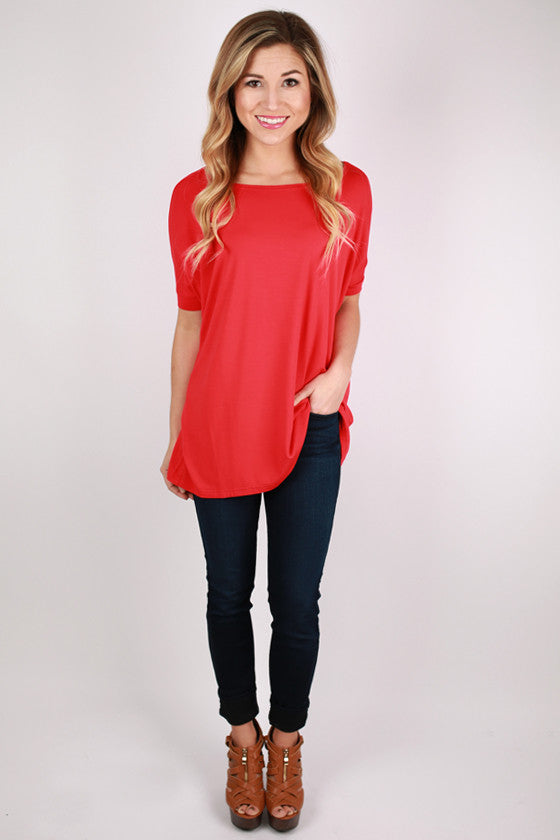 PIKO Short Sleeve Tee in Red