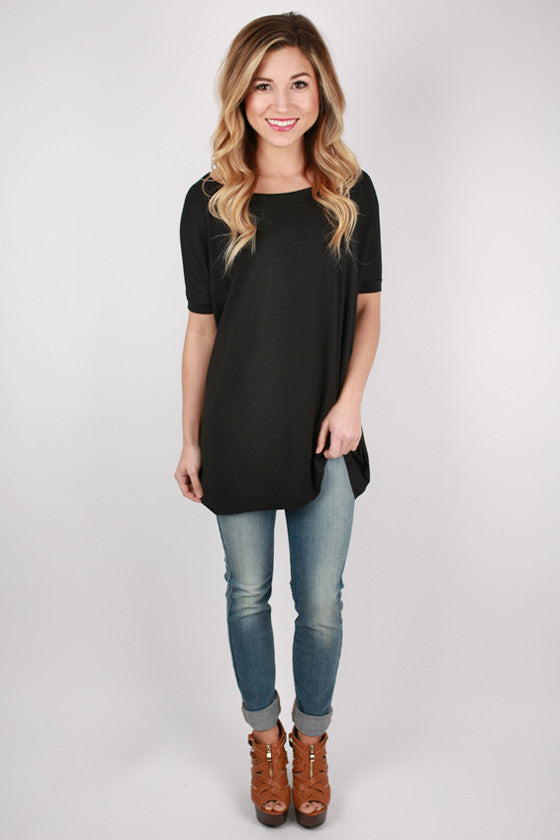 PIKO Short Sleeve Tee in Black