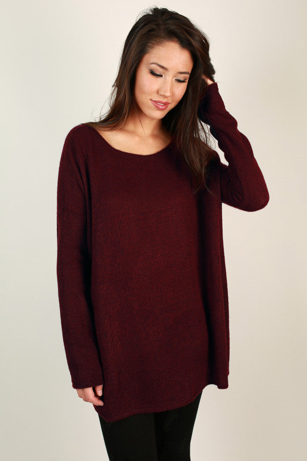 PIKO Sweater in Wine
