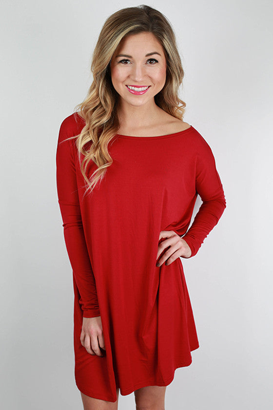 Piko Tunic in Garnet