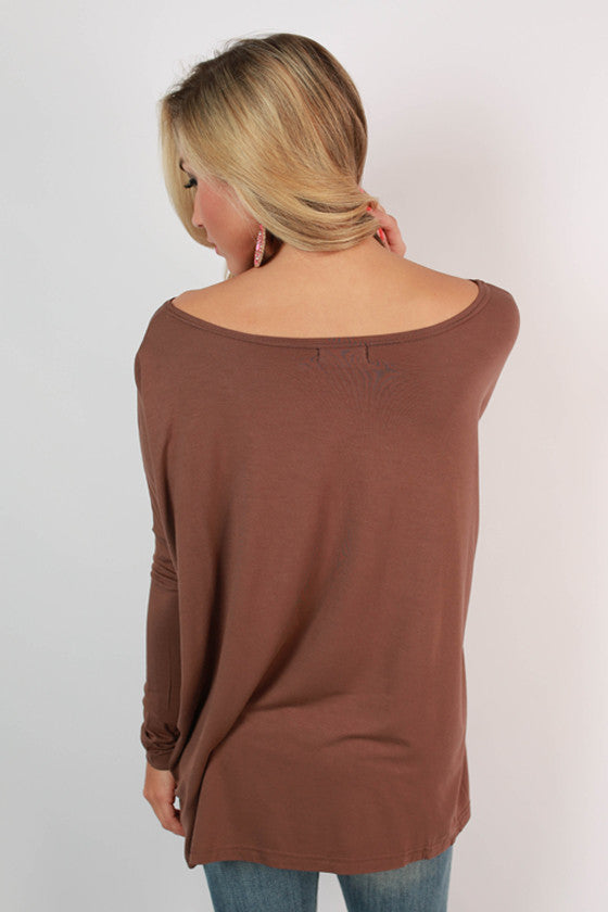 PIKO Long Sleeve Tee in Brown