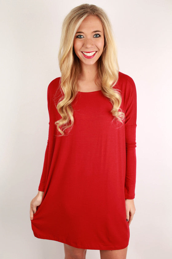 Perfect Little Tunic in Red