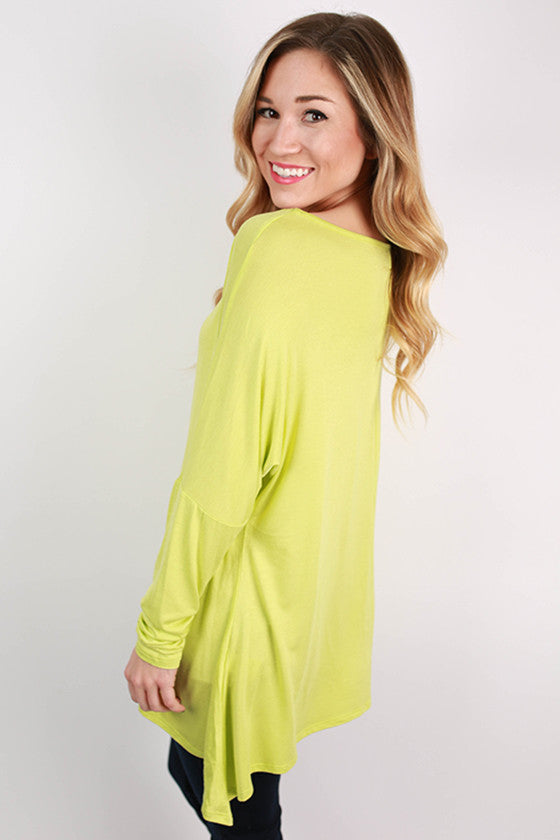 Style Seeker Tee in Lime