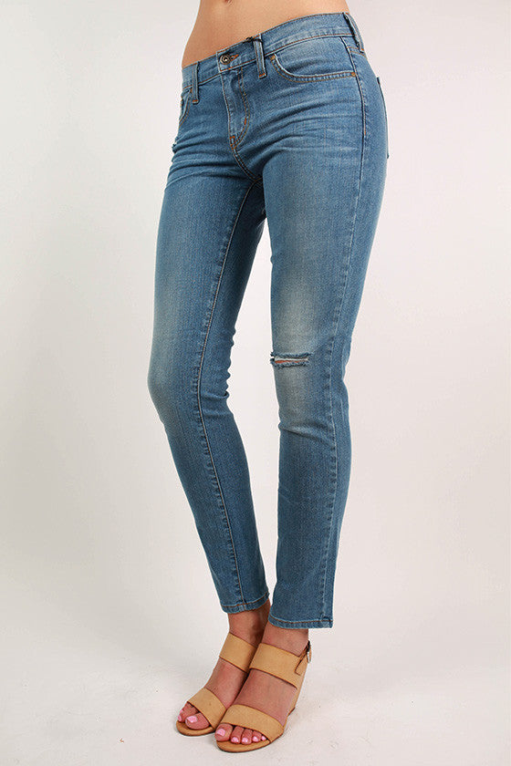 Light Denim Distressed Skinny