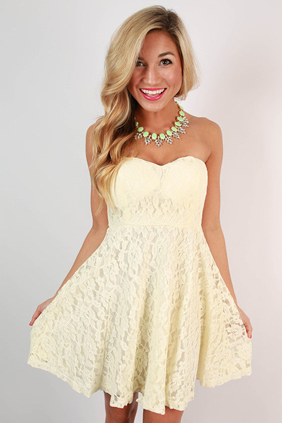 Grace Divine Mini Dress in Ivory