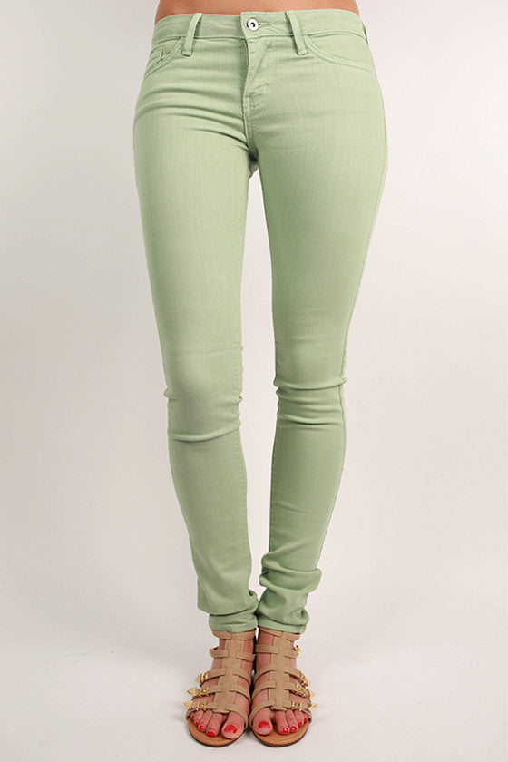 Basic Skinny Jean in Mint
