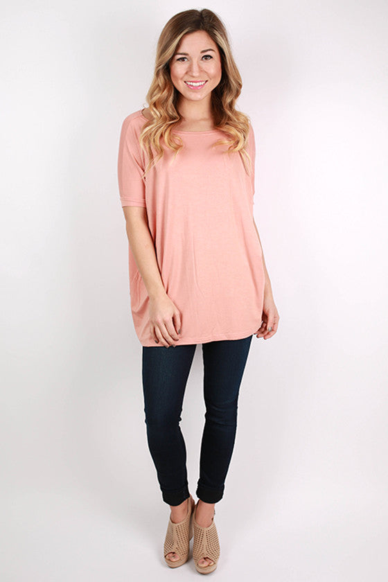 PIKO Short Sleeve Tee in Dark Nude