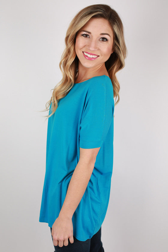 PIKO Short Sleeve Tee in Bright Blue