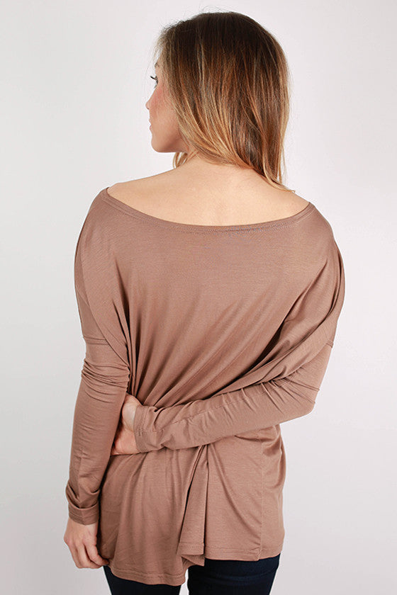 PIKO Long Sleeve Tee in Light Brown