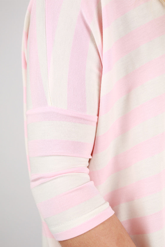 PIKO Striped Tee in Pink