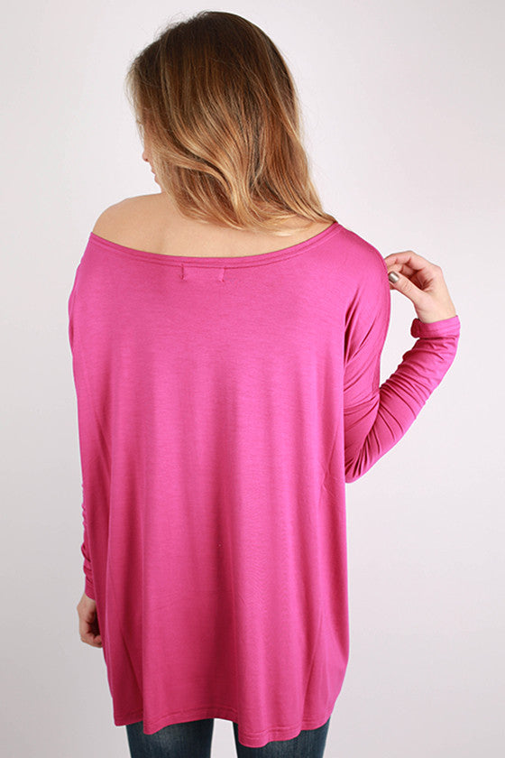 PIKO Long Sleeve Tee in Orchid