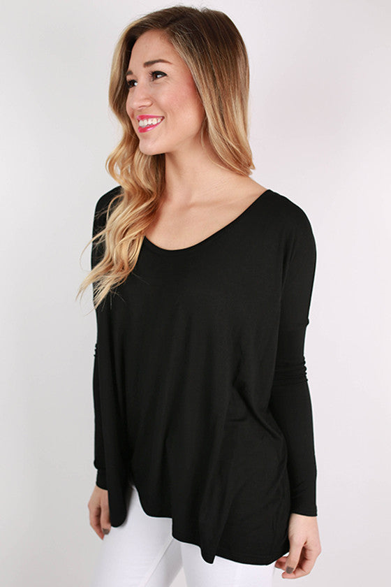 PIKO Tee Scoop Neck in Black