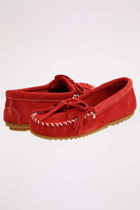 Kilty Suede Moc Hardsole in Red