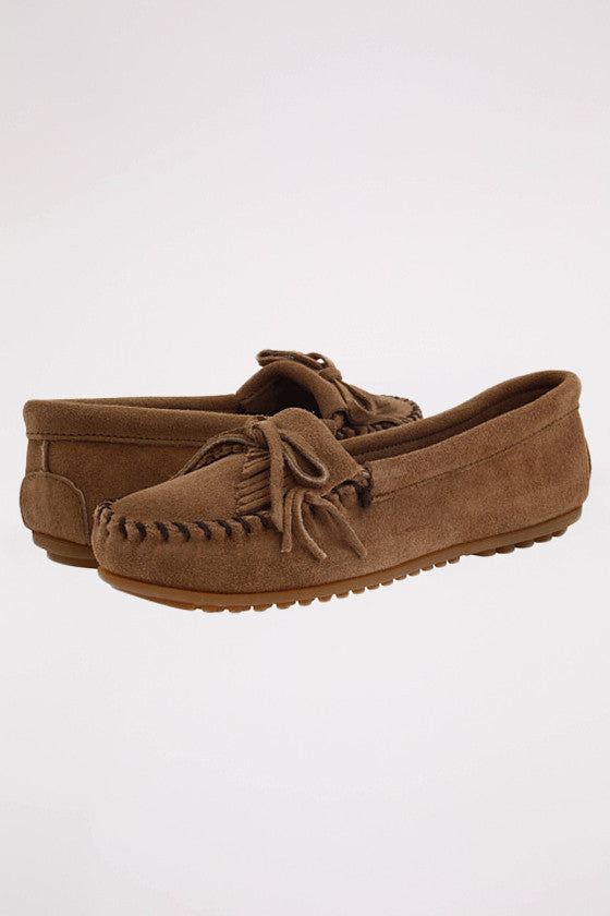 Kilty Suede Moc Hardsole in Taupe