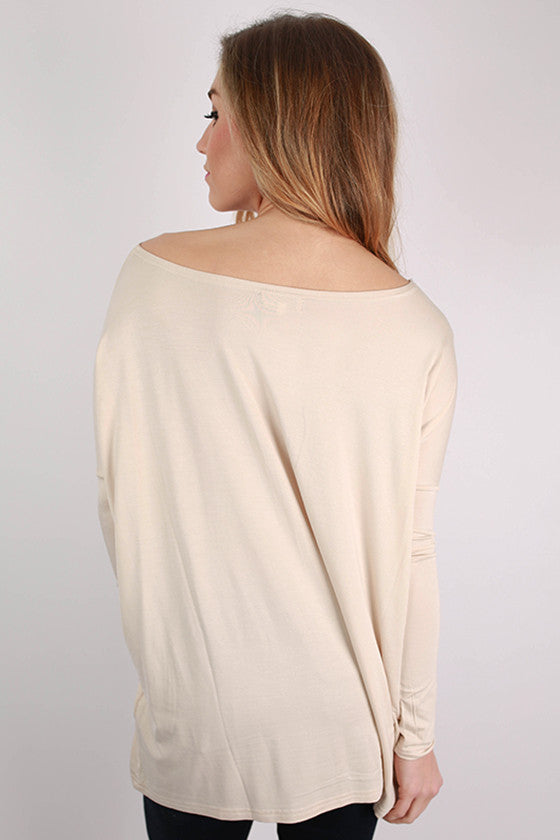 PIKO Long Sleeve Tee in Beige