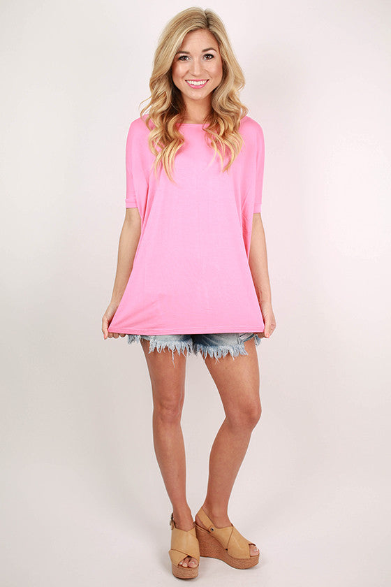 PIKO Short Sleeve Tee in Pink