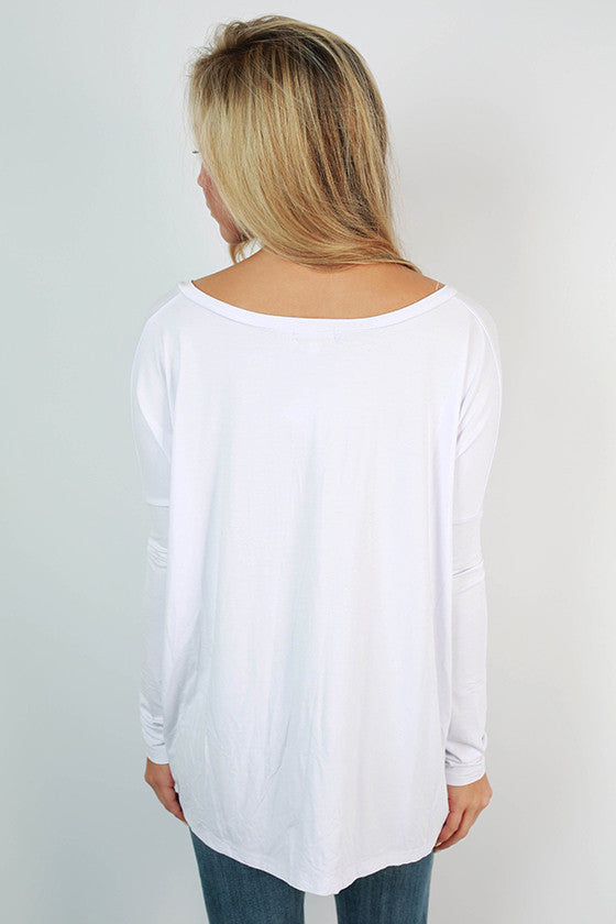 PIKO Tee Scoop Neck in Bleach White