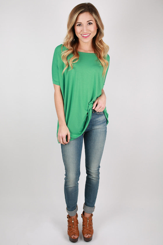 PIKO Short Sleeve Tee in Turquoise