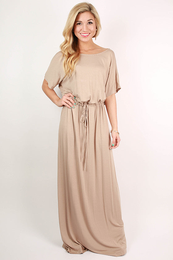 East Meets Best Maxi Dress in Taupe