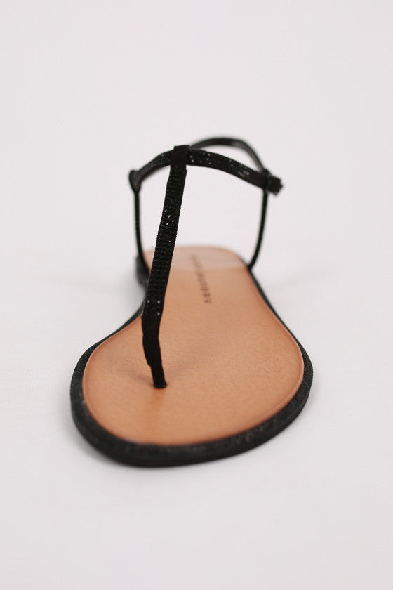 Glitterati Sandal in Black