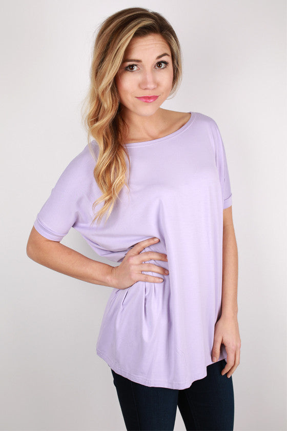 PIKO Short Sleeve Tee in Light Purple