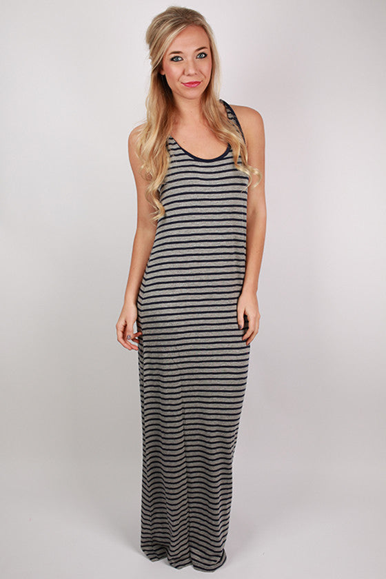 Beach Waves Maxi in Navy