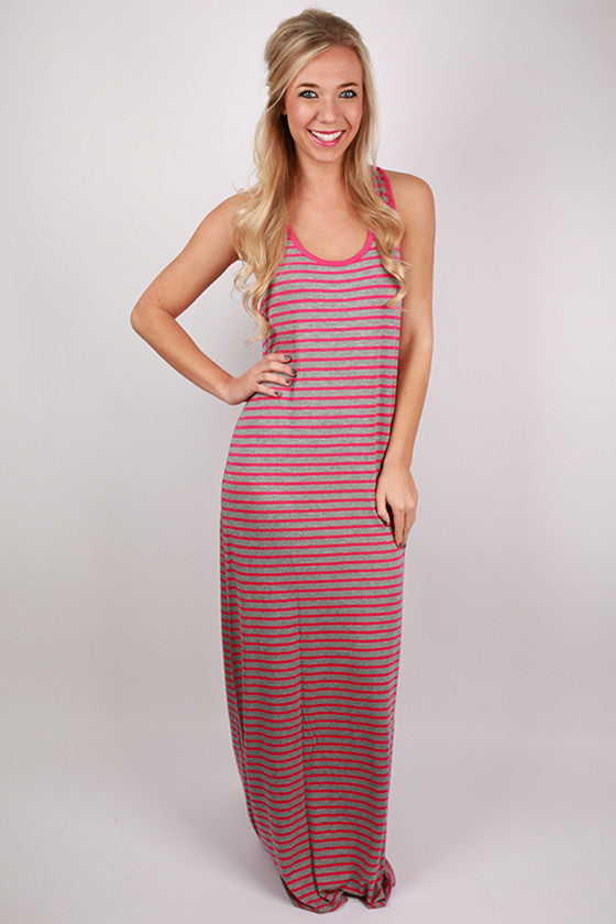 Beach Waves Maxi in Fuchsia