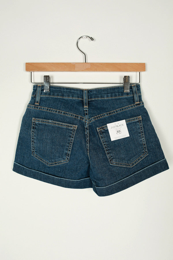 Denim Cuffed Shorts Medium Blue