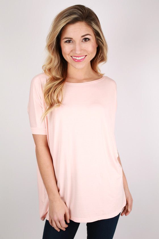 PIKO Short Sleeve Tee in Baby Pink