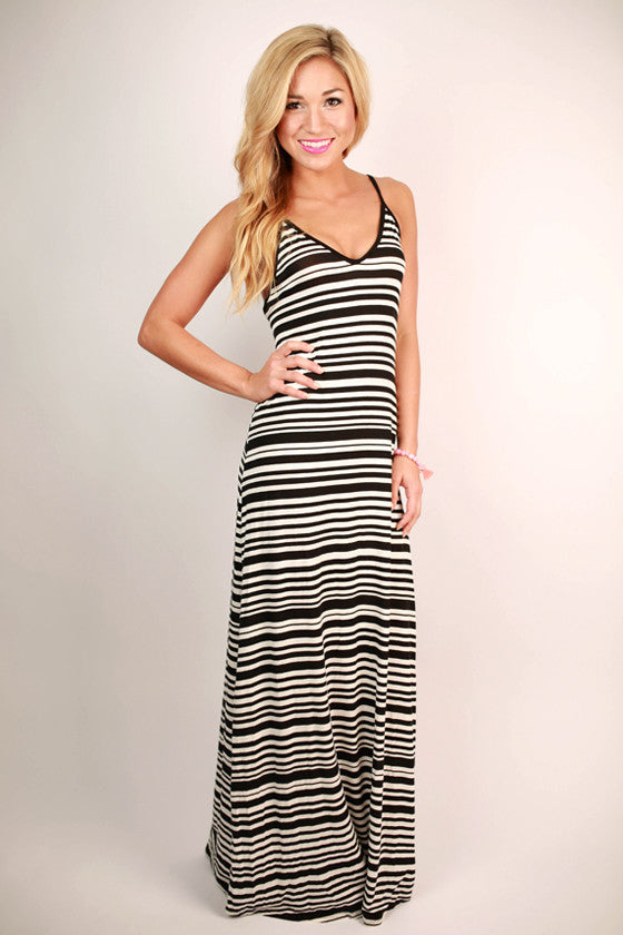 Island Stripe Maxi in White