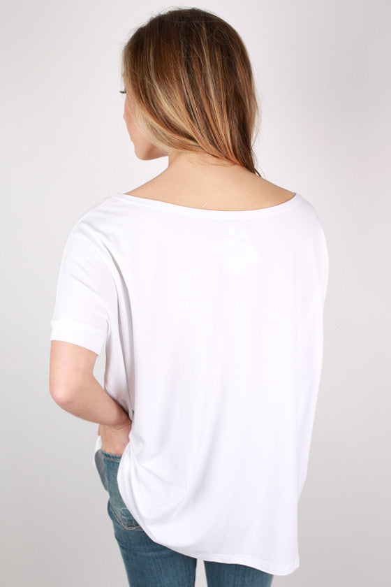 PIKO Short Sleeve Tee in Bleach White