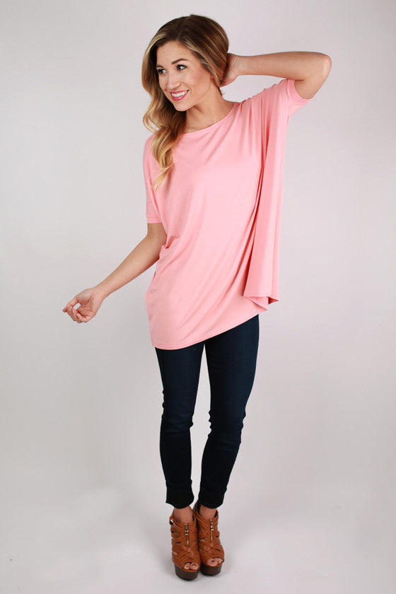 PIKO Short Sleeve Tee in Peach