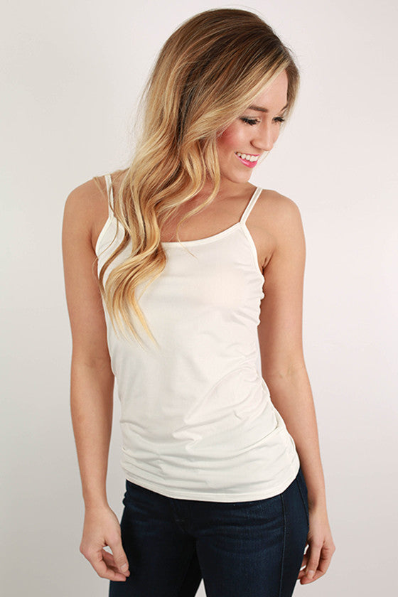 Basically Lovely Tank in Ivory
