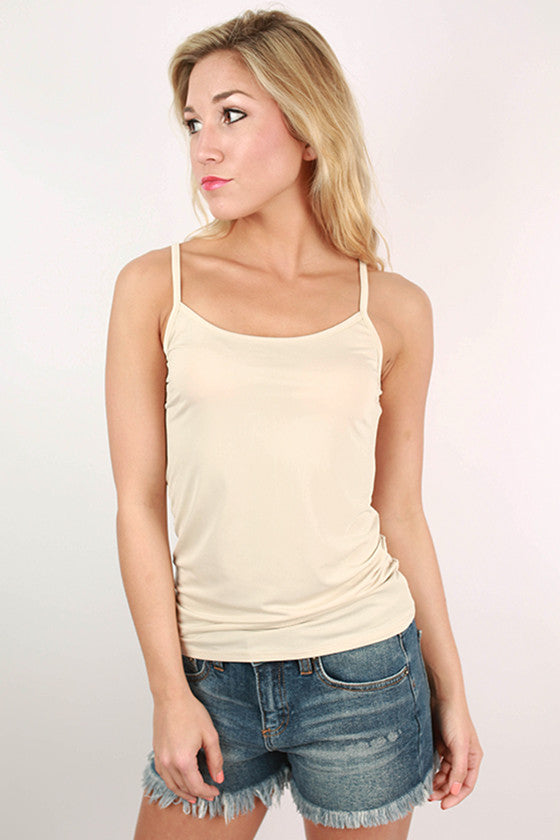 Basically Lovely Tank in Nude