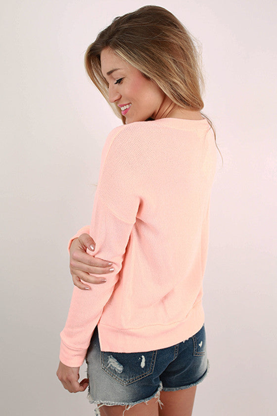 Seaside Snuggle in Peach