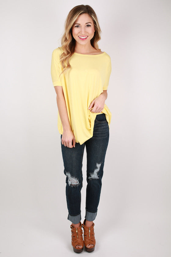 PIKO Short Sleeve Tee in Pastel Yellow