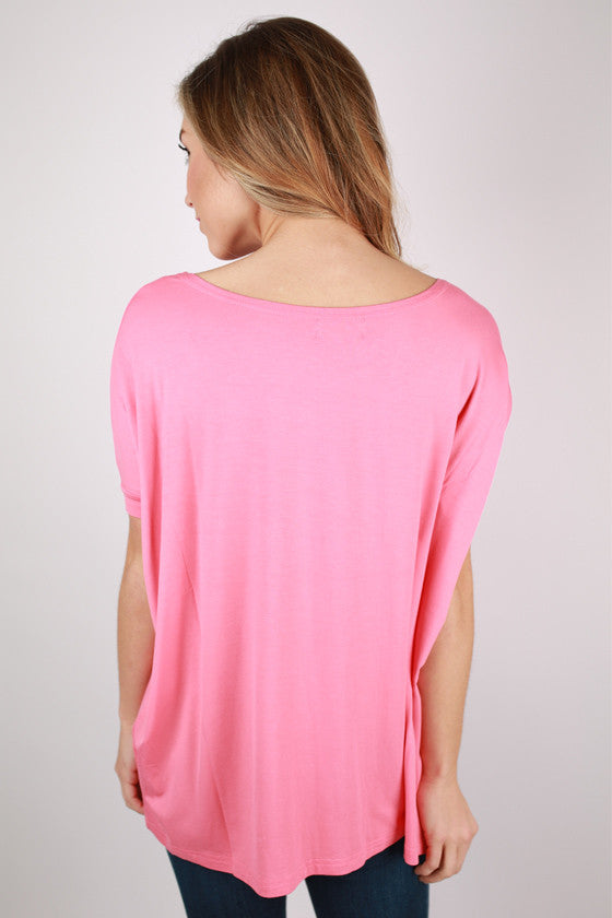 PIKO Short Sleeve in Dusty Pink