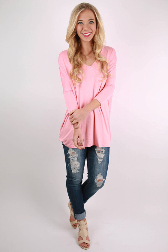 Express Yourself Tee in Coral