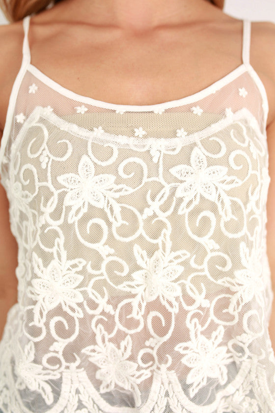 Beachside Lace in Ivory