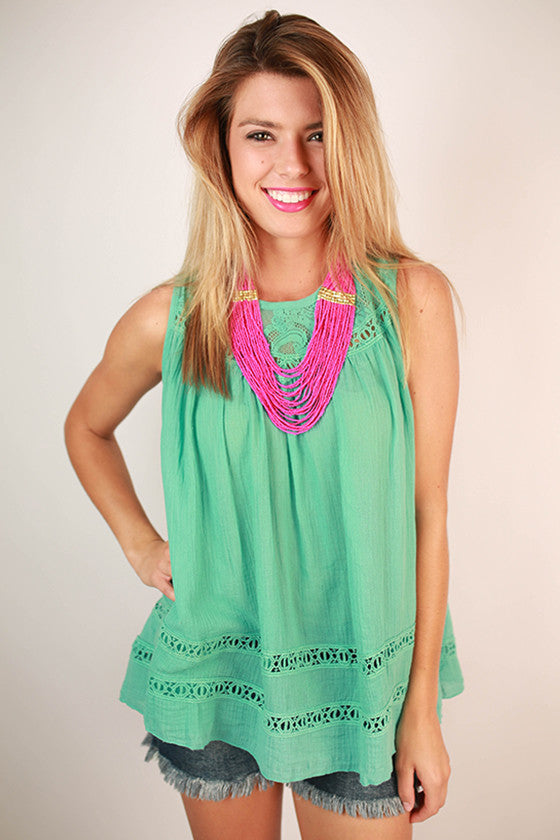 Just Wanna Have Fun Tank in Mint