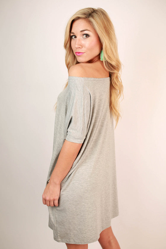 PIKO Short Sleeve Tunic in Heather Grey