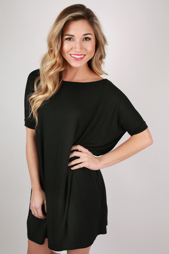 PIKO Short Sleeve Tunic in Black