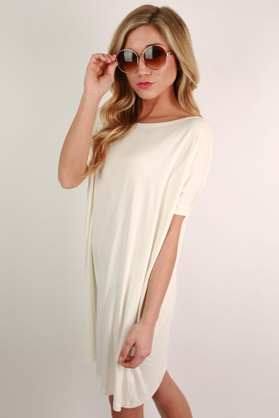 PIKO Short Sleeve Tunic in Off White