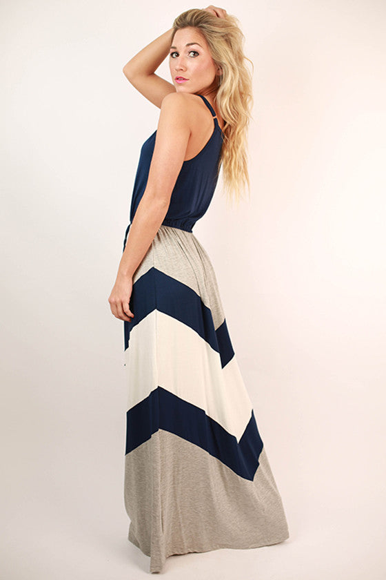 See You in Soho Maxi Dress in Navy