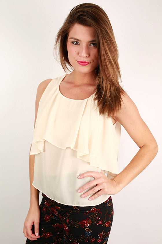 Caribbean Tan Lines Tank in Taupe